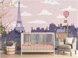Paris Wall Murals Wallpaper Roof S Paris Mural Pink Children Wallpaper Of Paris
