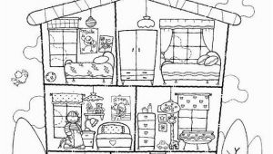 Parts Of the House Coloring Pages House Colouring Page