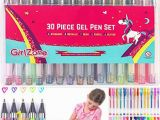 Pastel Colored Pages Manga Girlzone Colored Gel Pens Set for Girls Ideal Arts and Crafts Kit