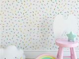 Pastel Rainbow Wall Mural Self Adhesive Wallpaper Rainbow Drops Nursery Wallpaper