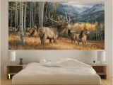 Patio Wall Murals Elk Indoor Outdoor Vinyl Wall Mural Landscapes Wall Mural 244 X