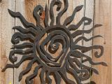 "Patio Wall Murals Rustic Sun Wall Decor 24"" Recycled Steel Custom Sun Metal Sun"