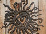 "Patio Wall Murals Rustic Sun Wall Decor 24"" Recycled Steel Custom Sun Metal Sun"