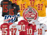 Patrick Mahomes Coloring Pages 2019 15 Patrick Mahomes Ii Chief Jersey 87 Travis Kelce 10 Tyreek Hill 60th Patch Football Jerseys From Usa Jersey Shop $24 37