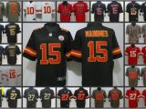 Patrick Mahomes Coloring Pages 2019 Kansas City Men Chiefs Embroidery Jersey 15 Patrick Mahomes 10 Tyreek Hill 87 Travis Kelce 27 Kareem Hunt Women Youth Football Jerseys From