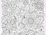 Pattern Coloring Pages Pdf Coloring Page Doodle Flowers Printable Adults and Children