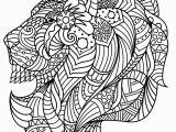 Pattern Coloring Pages Pdf Lion S Head with Plex and Beautiful Patterns From the