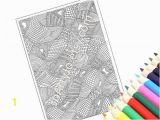 Pattern Coloring Pages Pdf Printable Coloring Page Pdf Instant Download Coloring