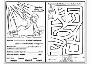 Paul and Ananias Coloring Page Saul On the Road to Damascus Craft Google Search