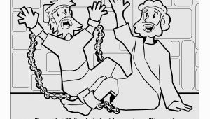Paul and Silas Bible Coloring Pages Paul and Silas Coloring Sheet
