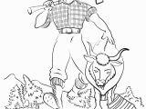 Paul Bunyan and Babe Coloring Page Best Paul Bunyan Coloring Sheet Design