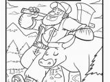 Paul Bunyan and Babe Coloring Page Paul Bunyan Coloring Page