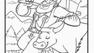 Paul Bunyan and Babe Coloring Page Paul Bunyan Coloring Page Reading for 1st Grade Pinterest