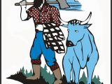 Paul Bunyan and Babe Coloring Page Paul Bunyan Wordsearch Crossword Puzzle and More