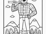 Paul Bunyan and Babe Coloring Page Tall Tales Paul Bunyan