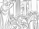 Paul Taught In athens Coloring Page Paul Preaching In athens Coloring Page