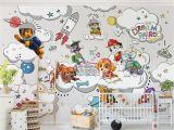 Paw Patrol Wall Mural Vliestapete Premium Paw Patrol Auf Wolke Sieben Breit