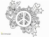 Peace Sign Coloring Pages 30 Peace Coloring Pages
