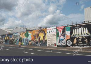 Peace Wall Murals Belfast Belfast Peace Wall Graffiti Stockfotos & Belfast Peace Wall