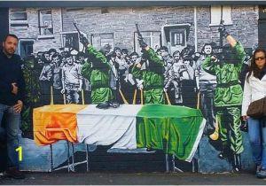Peace Wall Murals Belfast Berühmtes Schwarzes Taxi Politisches Wandgemälde Belfast Wall Peace Wall tour