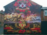 Peace Wall Murals Belfast Loyalist Mural Woodvale Belfast In Loving Memory