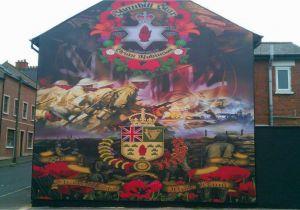 Peace Wall Murals Belfast Loyalist Mural Woodvale Belfast In Loving Memory