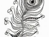Peacock Feather Coloring Page Intricate Design Of Peacock Feather Coloring Pages