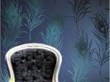 Peacock Feather Wall Mural 10m 53cm Home Decor Wallpaper Eco Friendly Non Woven Blue
