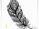 Peacock Feather Wall Mural Peerless Decorative Feather Vector Patterned Design