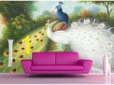 Peacock Walk Wall Mural 3d Murals Wallpaper Customized 3d Photo Wall Mural Hand Painted Peacock Papel De Parede Do Desktop Wallpaper Luxury