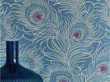 Peacock Walk Wall Mural Wallpaper Carlton House Terrace – Blue Plume Fireplace