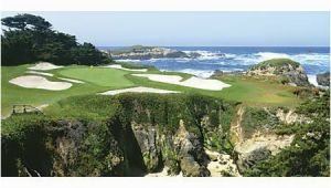"Pebble Beach Golf Wall Mural Biggies Wall Mural 60"" X 120"" Pebble Beach Item"