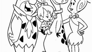 Pebbles Flintstone Coloring Pages Flintstones Coloring Page