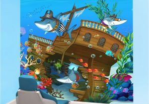 Pediatric Wall Murals Underwater Pediatric Wall Mural In Dental Treatment Room by