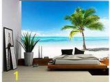 Peel and Stick Wall Murals Beach Tropical Ocean Peel & Stick Canvas Wall Mural 10 1 2 Feet Wide X 8