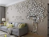 Peel and Stick Wall Murals Canada Diy 3d Giant Couple Tree Wall Decals Wall Stickers Crystal Acrylic Wall Décor Arts M Silver Right to Left