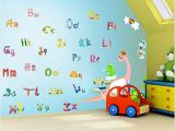 Peel and Stick Wall Murals for Kids Amazon Oocc Alphabet Letters Kids Room Nursery Wall