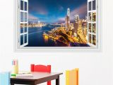 Peel and Stick Wall Murals Window Amazon 3d Windows Wall Sticker Wall Decal City Coast