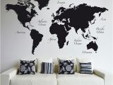 Peel and Stick World Map Wall Mural World Map Wall Decal World