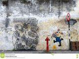 Penang Wall Mural Artist Malaysia July 19 Street Art In Penang Malaysia July