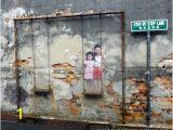 Penang Wall Mural Map Penang Street Art Location Map Wall Painting S