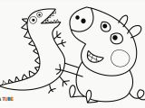 Peppa Pig Baby Alexander Coloring Pages Draw Baby Alexander and the Dino
