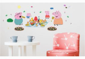 Peppa Pig Wall Mural asian Paints Wall S Peppa Pig Xl Family Picnic Removable Cartoon