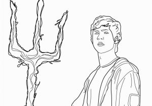 Percy Jackson Coloring Pages Poseidon S son Coloring Pages Hellokids