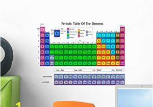 Periodic Table Wall Mural Wallmonkeys Periodic Table Elements Colors Wall Mural Peel and Stick Educational Graphics 18 In W X 13 In H Wm