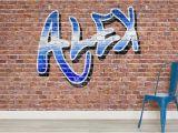 Personalised Graffiti Wall Mural Custom Name Graffiti Wallpaper Mural In 2019