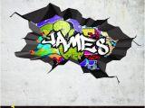 Personalised Graffiti Wall Mural Decals Mural Wall Covering Custom Wall Mural Custom Wall