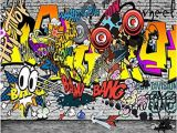 Personalised Graffiti Wall Mural Mbwlkj European and American Trend Graffiti Ktv Bar