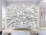 Personalised Wall Murals Beibehang White 3d Radiant Stone Wallpaper Custom Wall Mural