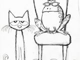 Pete the Cat and His Four Groovy buttons Coloring Page Pete the Cat and His Four Groovy buttons Sketch Coloring Page